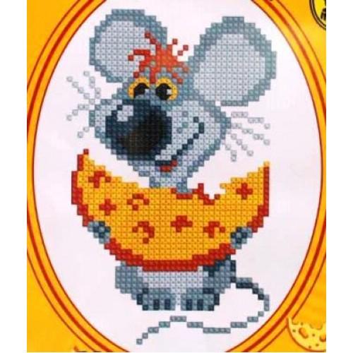 144 Мышка с сыром.