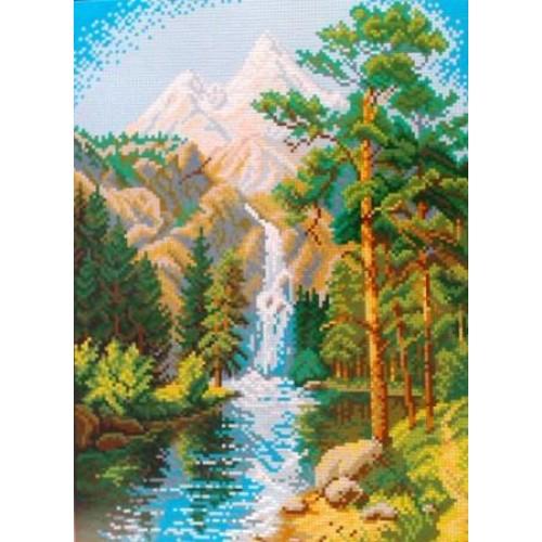 Вышивка крестом наборы водопады