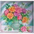 980  Розы в вазе 44*40 рисунок на канве