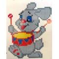 108 Заяц- Барабанщик. Набор для вышивания крестом.