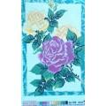 978 Прекрасные розы 25*37 рисунок на канве с мулине Артикул: 978