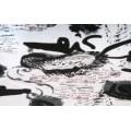 667РС1Д314 Вискоза набивная черно-белая пл.200гр/м2 шир.150см