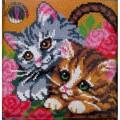 ПП-004 Два котенка 40*40(набор для рукоделия ковровая техника)