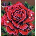 ПП-005 Роза 40*40 (набор для рукоделия ковровая техника)