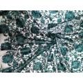 102РФД30С4 Сетка с вышивкой зеленая шир.127см