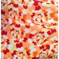 Кулирка с рисунком(3d цветы на коралл.фоне) 100%хл. 140гр/м2 о.е.