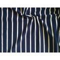 Кулирка пенье полоска(белая 4мм+т.синяя 16мм) 95%хб 5%л 180гр/м2 шир.180см