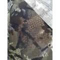 601-02 Ткань принт камуфляж соты зеленые на бежевом 210гр/м2 20%хл80%пэ шир.150см Корея